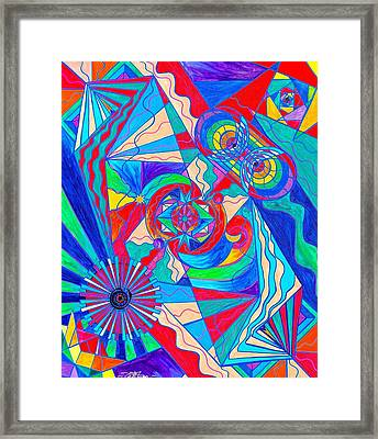 Pleiadian Restore Harmony Light Work Model Framed Print by Teal Eye  Print Store