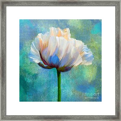 Plein Air Au Printemps Poppy Flower Floral Art Framed Print by Tina Lavoie