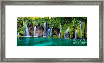 Plitvice Panorama Framed Print by Inge Johnsson