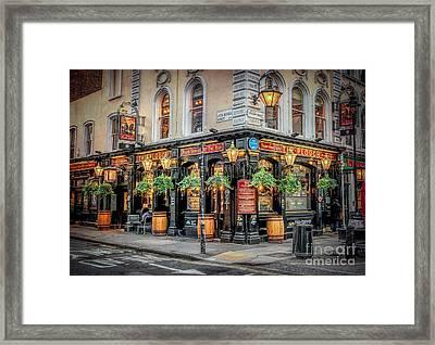 Plough Pub London Framed Print by Adrian Evans