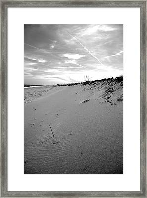 Plum Island Black And White Framed Print by Sue OConnor