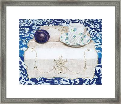 Plum Framed Print by Loraine LeBlanc