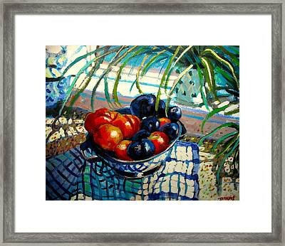 Plumbs And Nectarines Framed Print by Brian Simons