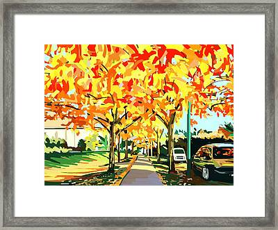 Plumes Of Leaves Framed Print by Plum Ovelgonne