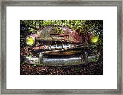 Plymouth Front End Framed Print by Debra and Dave Vanderlaan