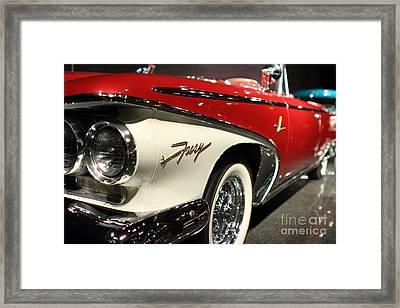 Plymouth Fury Framed Print by Wingsdomain TransportationArt