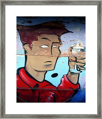 Plywood Boy Framed Print by Andrew Fare