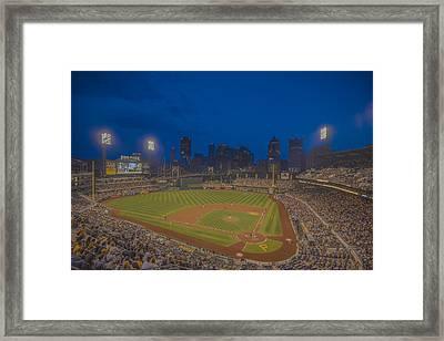 Pnc Park Pittsburgh Pirates C Framed Print by David Haskett