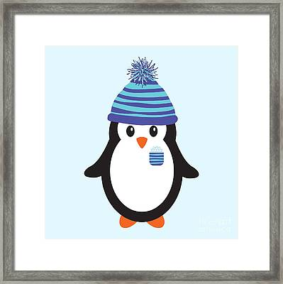Pocket Snowflake The Penguin Framed Print by Natalie Kinnear