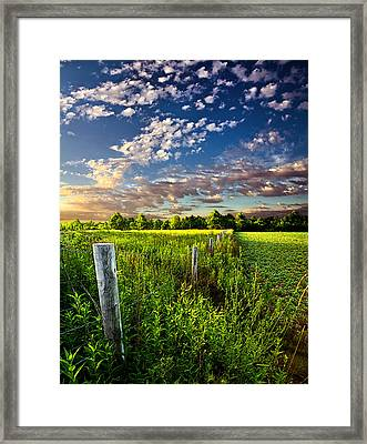 Poems Prayers And Promises Framed Print by Phil Koch