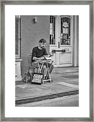 Poet For Hire 2 - Bw Framed Print by Steve Harrington