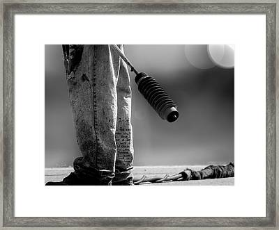 Poetry Pants And Flamethrower  Framed Print by Bob Orsillo