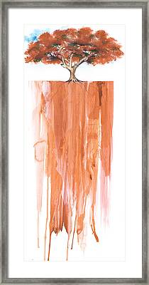 Poinciana Tree Red Framed Print by Anthony Burks Sr