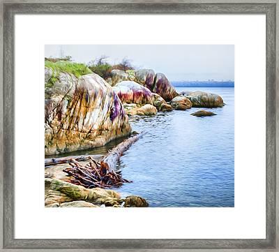 Point Atkinson Beach Framed Print by Theresa Tahara