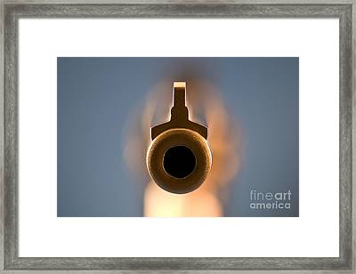 Point Blank Framed Print by Charles Dobbs