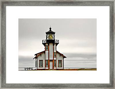 Point Cabrillo Lighthouse California Framed Print by Christine Till
