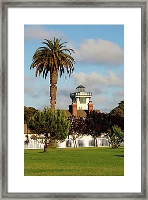 Point Fermin Light - San Pedro - Southern California Framed Print by Christine Till