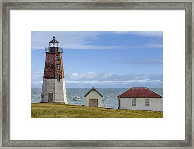Point Judith Lighthouse Framed Print by Capt Gerry Hare