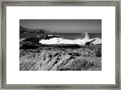 Point Lobos Shore B And W Framed Print by Joyce Dickens