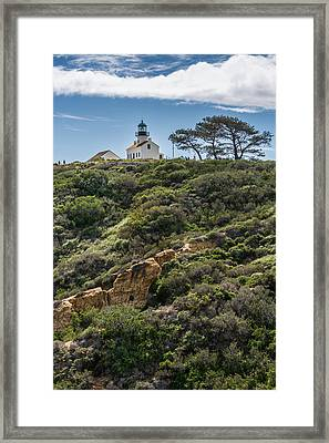 Point Loma Lighthouse - California Coast Photograph Framed Print by Duane Miller