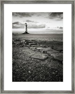 Point Of Ayre Lighthouse Framed Print by Jon Baxter