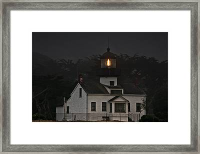 Point Pinos Lighthouse Ca Framed Print by Christine Till