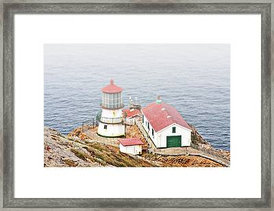 Point Reyes Lighthouse At Point Reyes National Seashore Ca Framed Print by Christine Till