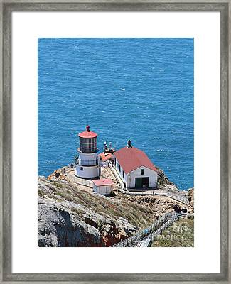 Point Reyes Lighthouse In California 7d15975 Framed Print by Wingsdomain Art and Photography