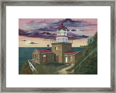 Point Sur Framed Print by James Lyman
