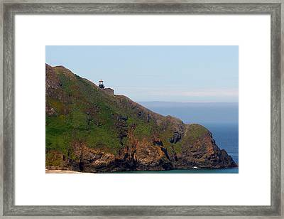 Point Sur Lighthouse Ca  Framed Print by Christine Till