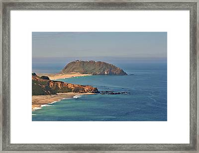 Point Sur Lighthouse On Central California's Coast - Big Sur California Framed Print by Christine Till