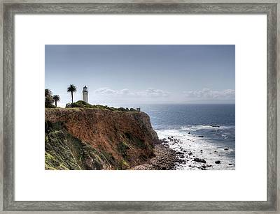 Point Vicente Lighthouse In Winter Framed Print by Heidi Smith