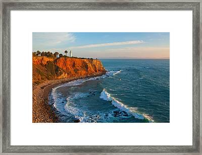 Point Vicente Lighthouse Palos Verdes California Framed Print by Ram Vasudev