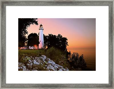 Pointe Aux Barques Framed Print by Michael Peychich
