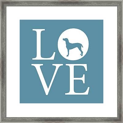 Pointer Love Framed Print by Nancy Ingersoll