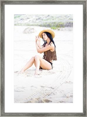 Poised Sand Elegance Framed Print by Jorgo Photography - Wall Art Gallery