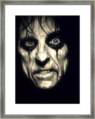 Poison Alice Cooper Framed Print by Fred Larucci