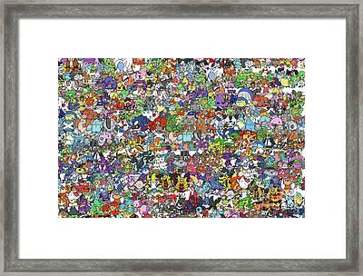 Pokemon  Framed Print by Mark Ashkenazi