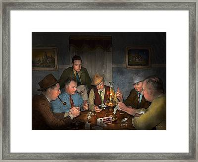 Poker - Poker Face 1939 Framed Print by Mike Savad
