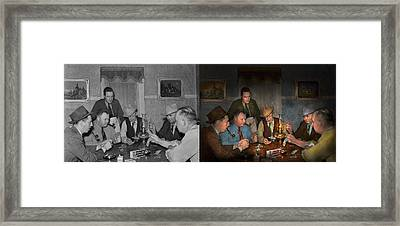 Poker - Poker Face 1939 - Side By Side Framed Print by Mike Savad