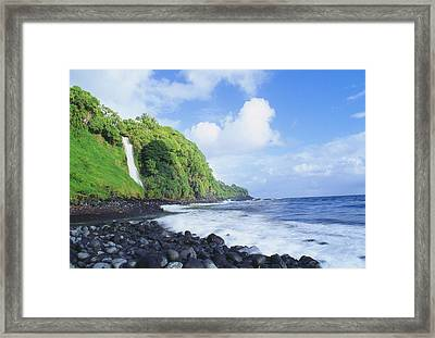 Pokupupu Point Framed Print by Peter French - Printscapes