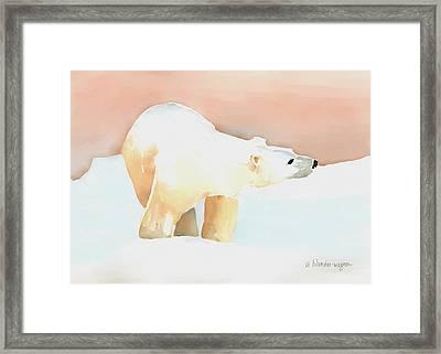 Polar Bear Framed Print by Arline Wagner