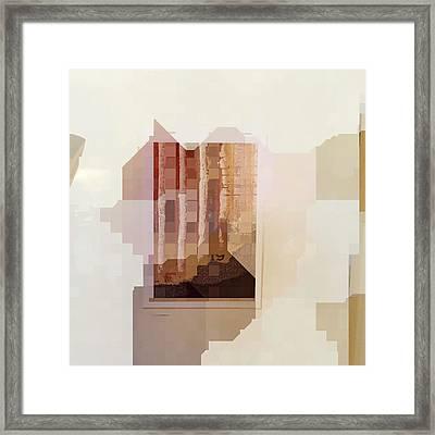 Polaroids Abstract 1 Framed Print by Carol Leigh