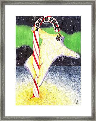 Pole Dancing Framed Print by Catherine G McElroy