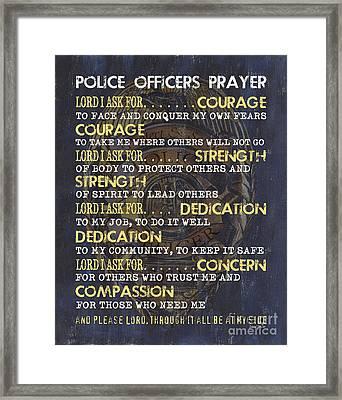 Police Officers Prayer Framed Print by Debbie DeWitt