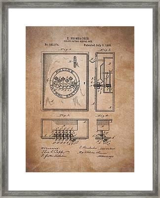 Police Patrol Signal Box Framed Print by Dan Sproul