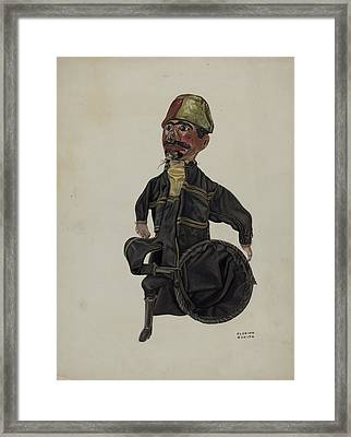 Policeman Hand Puppet Framed Print by Florian Rokita