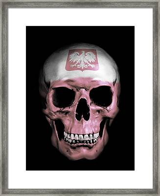 Digital Manipulation Framed Print featuring the digital art Polish Skull by Nicklas Gustafsson