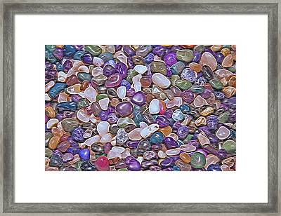 Polished Stones - Abstract Framed Print by Steve Ohlsen
