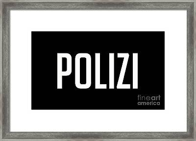 Polizi Tee Framed Print by Edward Fielding